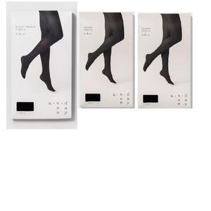 A New Day Tights 1X/2X Black 3 PAIR